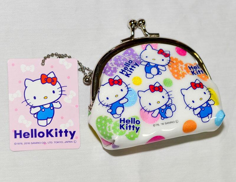 Hello Kitty 閃亮bling 珠扣 口金 零錢包