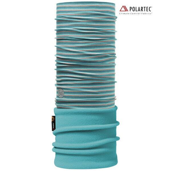 【【蘋果戶外】】BF108014西班牙BUFF魔術頭巾湖水藍織色保暖頭巾Polartec保暖纖維脖圍