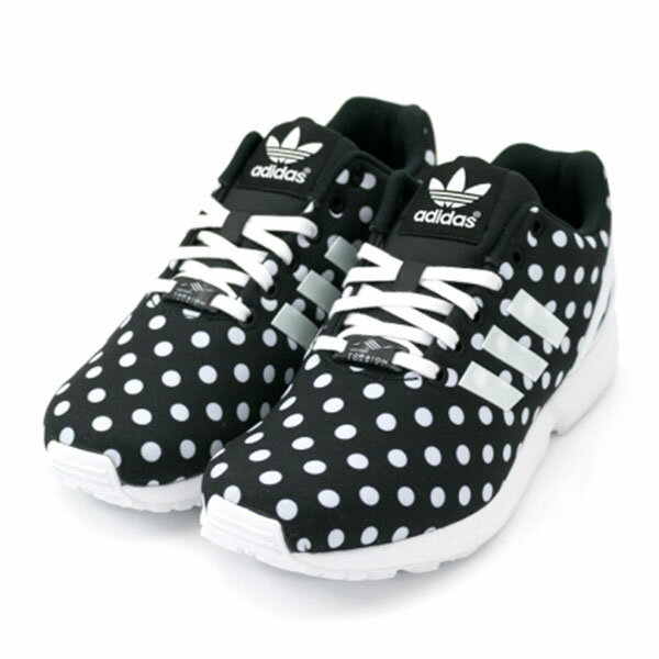 【ADIDAS】ZX FLUX W 休閒鞋 黑色 點點(女)S77312