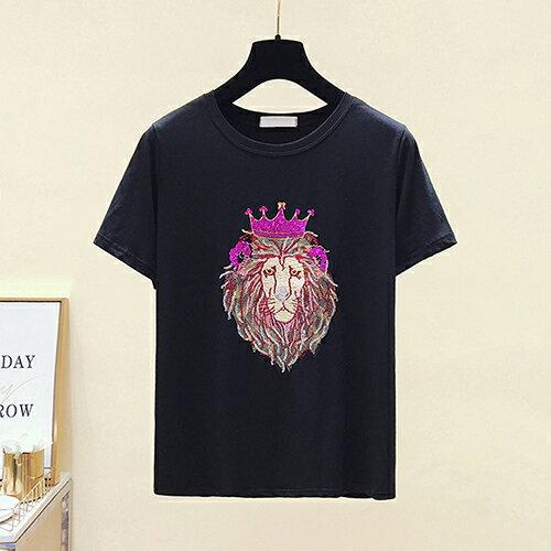 *ORead*韓版短袖圓領亮片刺繡T恤(3色M~2XL) 0