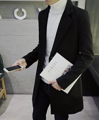 【JP.美日韓】韓國 質感大衣 外搭 長版大衣 西裝外套 大衣 長版 外搭 KOREA
