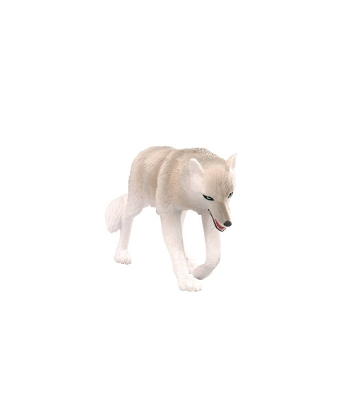 【美國B.Toys感統玩具】Terra 北美洲動物-灰狼【紫貝殼】