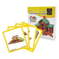 【 班恩傑尼 】木屋王創意積木桶圖卡
