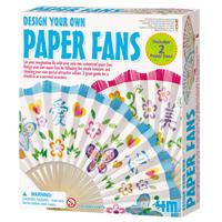 【 4M 美勞創作】藝術花扇 Design Your Own Paper Fans