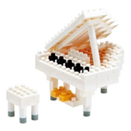 【 nanoblock 】NBC-053 白鋼琴 Grand Piano
