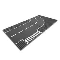 【 LEGO 樂高積木 】CITY 城市系列 > LT7281 道路底板 ( 路口 + 彎道 )