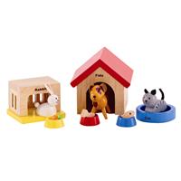 【免運費】《 德國 Hape 愛傑卡》角色扮演娃娃屋系列 - 可愛動物組合