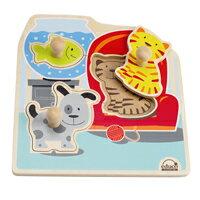 【 educo 愛傑卡 】居家寵物木拼圖