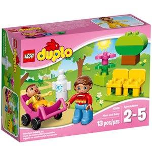 樂高積木 LEGO《 LT10585 》2015年 Duplo 幼兒系列 - 媽媽和嬰兒