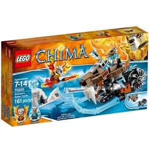 樂高積木 LEGO《 LT70220 》2015年 Chima 系列>鼠膽虎Strainor 的劍齒摩托車