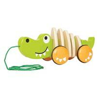 【免運費】《 德國 Hape 愛傑卡》嬰兒統感系列 - 鱷魚拉車