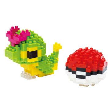 《 Nano Block 迷你積木 》【 神奇寶貝 系列 】 NBPM -010 綠毛蟲 & 寶貝球