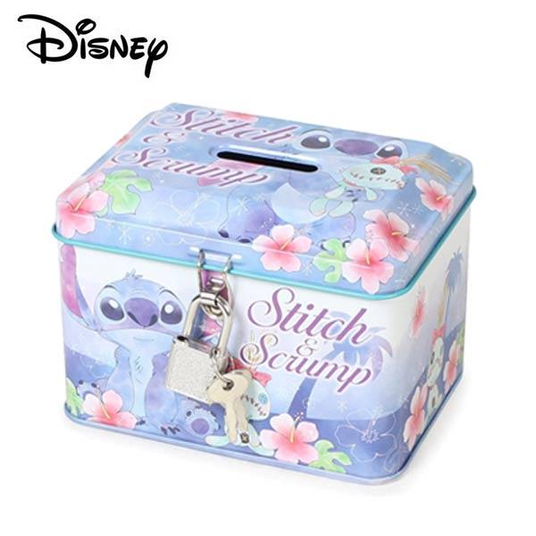 【日本正版】史迪奇鐵盒存錢筒小費盒收納盒附鑰匙可上鎖Stitch迪士尼Disney-063222