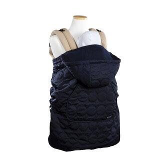 韓國 Pognae 秋冬多功能防風保暖袍-深藍【適合每款背巾】【紫貝殼】