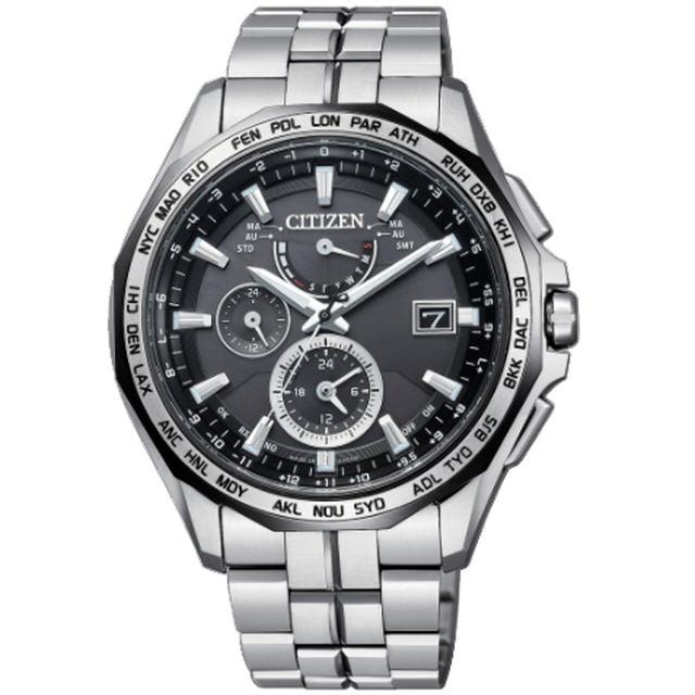 清水鐘錶 Citizen 星辰 Eco-Drive 光動能 黑旋風鈦金屬全球電波腕錶 AT9096-57E 44mm