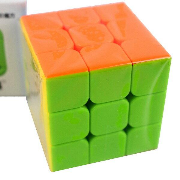 魔方格 勇士三階魔術方塊 169(螢光色5.7cm) / 一個入(定100) 比賽專用 奇藝三階魔方 3x3x3-鑫-首CS84912 2