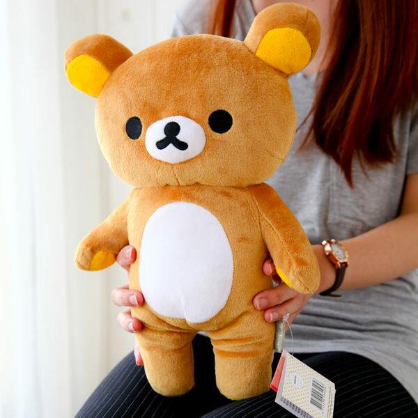 正版拉拉熊全身小娃娃 30cm Rilakkuma 懶懶熊 布偶 填充娃娃 玩具 玩偶 禮物 抱枕 【B060488】