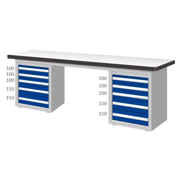 五層抽屜 3+2雙櫃工作桌 耐磨桌板 辦公桌 書桌 【可力爾】 0