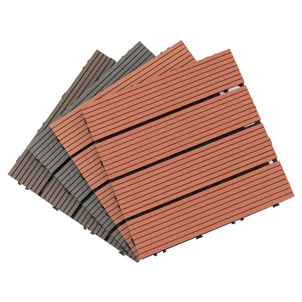 卡扣拼接塑木地板 仿木紋地墊 景觀 陽台 園藝 造景 單片賣場【Q043】