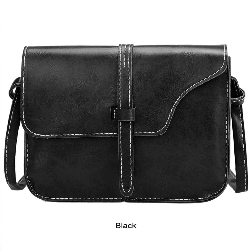 Women Retro Synthetic Leather Mini Solid Handbag Cross Body Shoulder Bags 0
