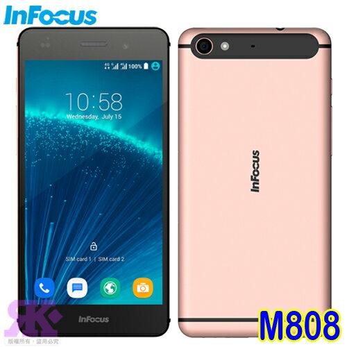 Infocus M808(32G) 5.2吋八核雙卡智慧手機-贈專用皮套+imos疏油疏水+抗藍光保貼(共2片一組)+原廠筆記本+專用耳機