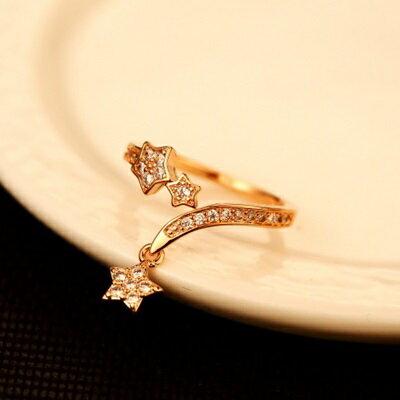 玫瑰金戒指鑲鑽銀飾銀飾-時尚經典大方簡約母親節生日情人節禮物女飾品73by21【獨家進口】【米蘭精品】