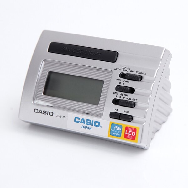 鬧鐘 CASIO銀三角座電子座鐘【NVC8】柒彩年代