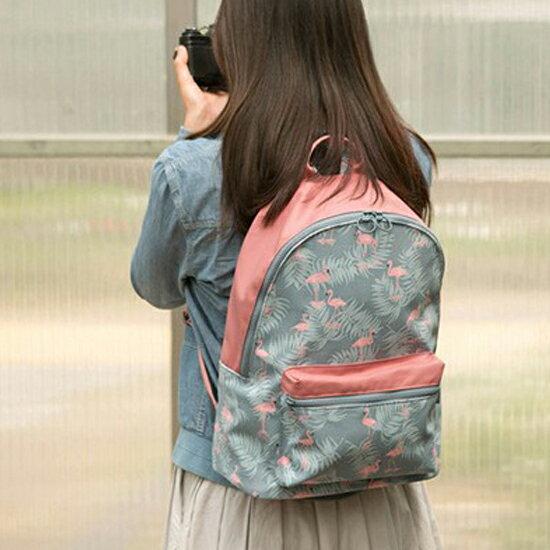 ♚MY COLOR♚韓版印花雙肩後背包 大容量 收納 置物 旅行 出差 購物 便攜 雙肩 出差 夾層【A15】