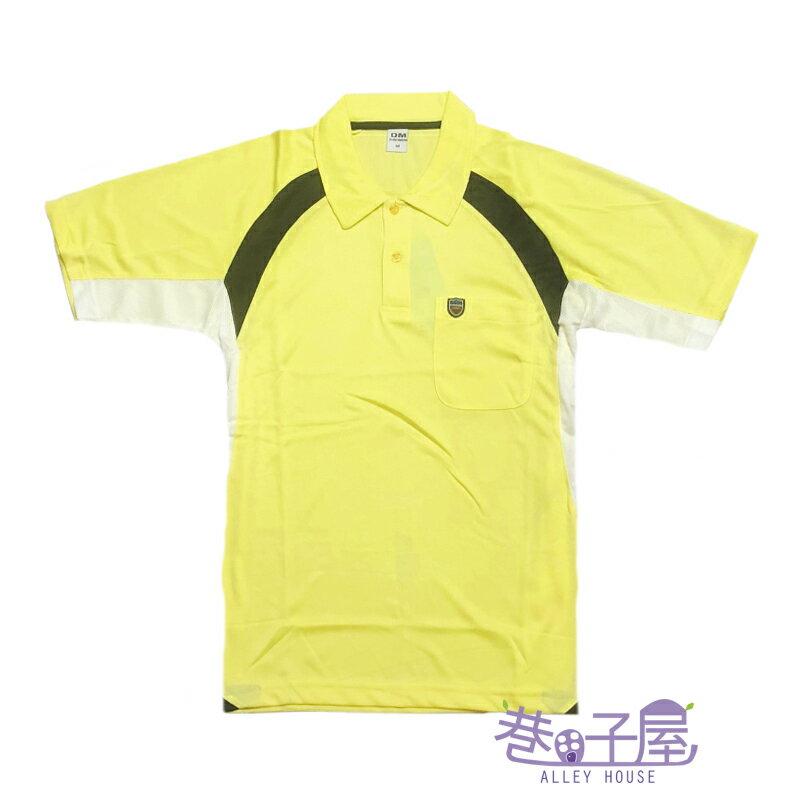 【巷子屋】男款吸濕排汗配色POLO衫 [MP6-001] 黃 超值價$120
