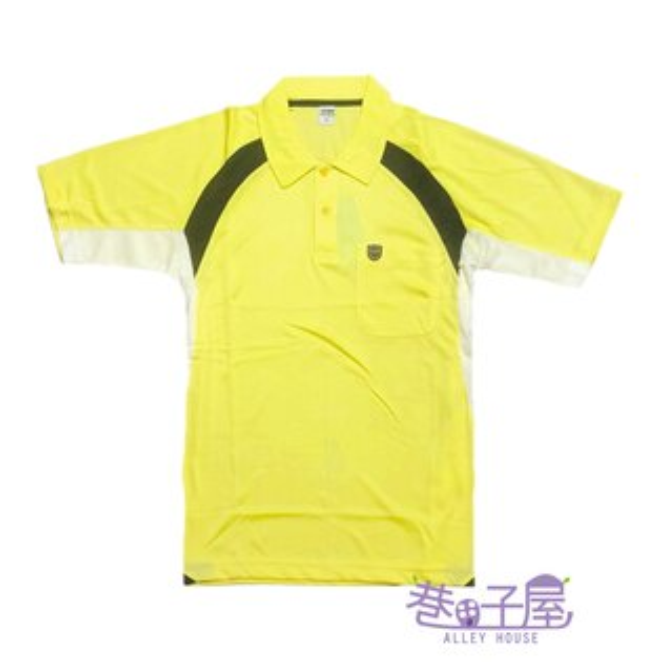 【巷子屋】男款吸濕排汗配色POLO衫[MP6-001]黃超值價$120