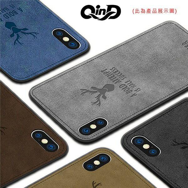 QinD Apple iPhone 8/7 Plus 麋鹿布紋保護套 軟邊硬殼 全包防摔 手機殼 保護殼 i8P i7P