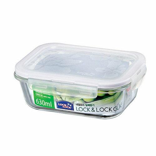樂扣樂扣玻璃保鮮盒長方形 630ML LLG428 樂扣玻璃保鮮盒 樂扣 耐熱玻璃保鮮盒
