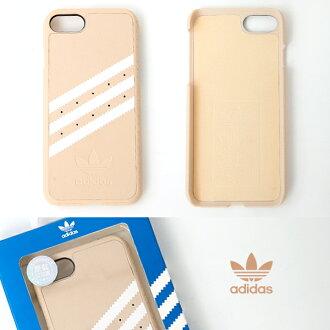 iPhone 7 愛迪達粉橘色手機殼 adidas 三葉草 4.7吋保護殼 柒彩年代【NLA12】手機套