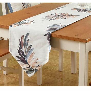 麻吉小舖:簡約現代餐桌旗桌布鞋櫃蓋布桌巾-葉羽紫單售