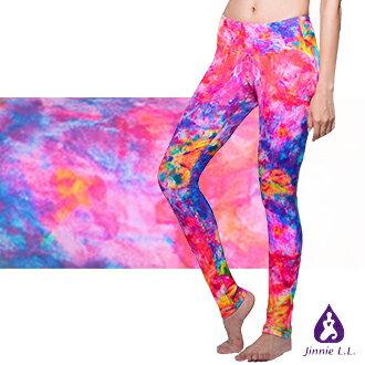 【Jinnie L. L.】花園秘境彈性運動長褲 - 女性 高腰塑身設計 台灣製