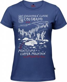 Fjallraven小狐狸有-機棉短袖T恤棉T旅遊UST-Shirt女89977527美國健行深藍