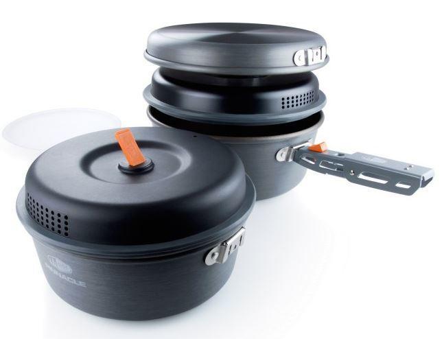【【蘋果戶外】】GSI 50182 Pinnacle Base Camper 鋁合金套鍋組【兩鍋兩蓋一煎】2L+1.5L鍋 8吋平底鍋