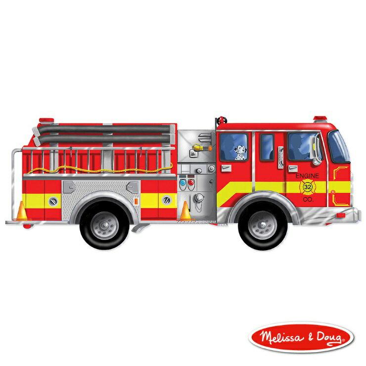 美國瑪莉莎 Melissa & Doug 大型地板拼圖巨型消防車24 片