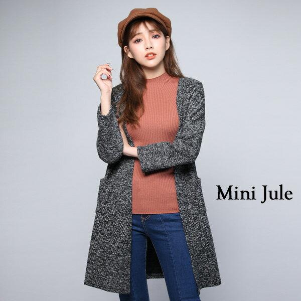 外套 俐落雙口袋開襟外套 小豬兒 MiNi Jule 【WUC72000929】