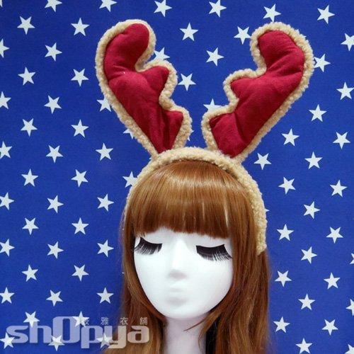 華麗超大聖誕麋鹿角髮箍 聖誕服 COSPLAY 耶誕派對角色扮演 攝影寫真 筱雅衣舖~A6