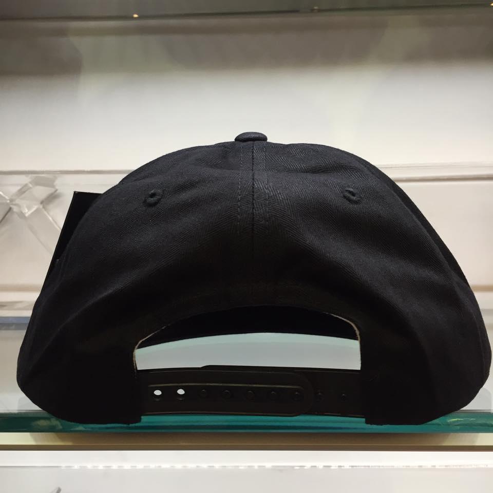 BEETLE STUSSY HERRINGBONE SNAPBACK CAP 全黑 S 棒球帽 LOGO 素面 刺繡 2