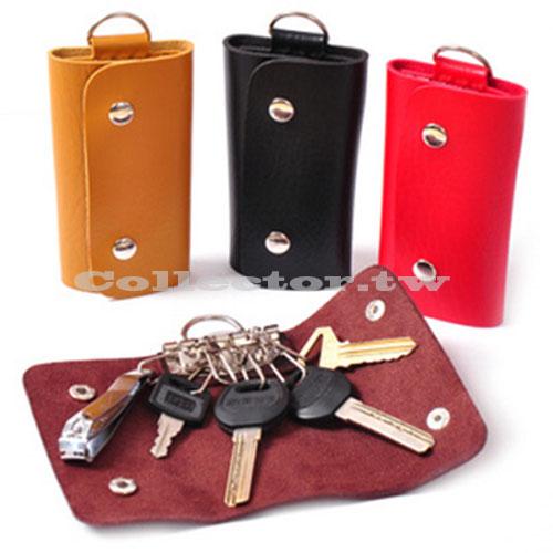 【超取299免運】時尚簡約男女款鑰匙包 仿真皮鑰匙包 汽車鑰匙扣
