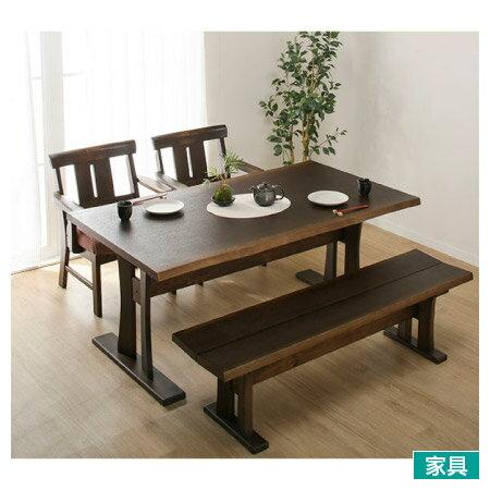 宜得利家居:◎和風木質餐桌椅四件組YAMATO4160DBRNITORI宜得利家居