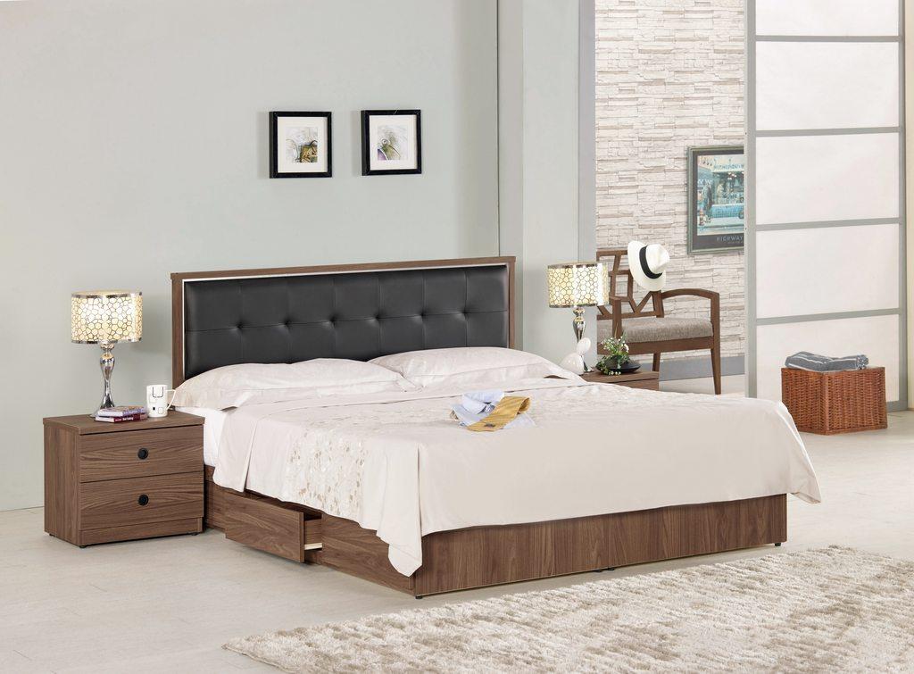 【 尚品傢俱】CM-665-2 諾艾爾6尺床片型雙人床 / 5尺床片型雙人床 / 3.5尺床片型單人床
