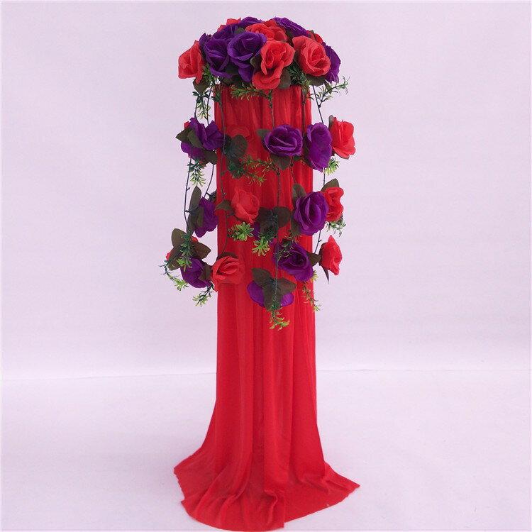 中式婚禮布置結婚花柱花拱門羅馬柱t臺裝飾道具路引婚慶新款2018 7