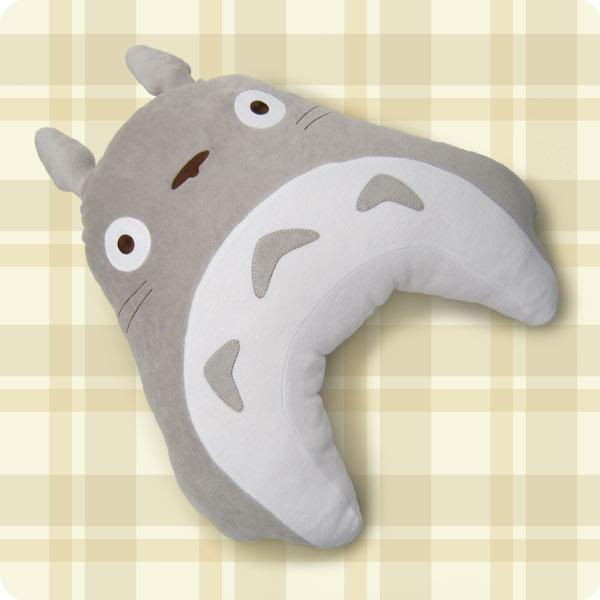 【真愛日本】15110700022 哺乳腰靠月亮枕L-灰龍貓 TOTORO 豆豆龍 靠枕 媽咪用品