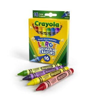 ★衛立兒生活館★美國crayola可水洗大蠟筆16色