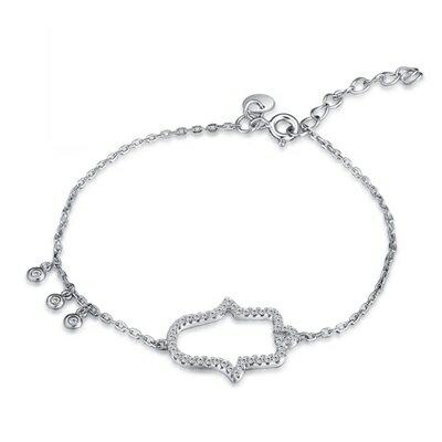 ~925純銀手鍊 鑲鑽手環~簡約鏤空鈴鐺 生日情人節 女飾品73gr19~ ~~米蘭 ~