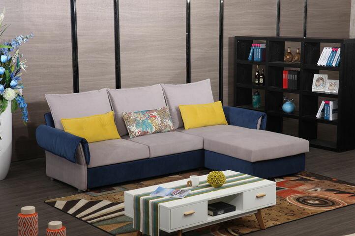 【新生活家具】 麂皮絨 沙發床 L型沙發 雙人沙發 貴妃椅《貝拉》簡約 現代 時尚 非 H&D ikea 宜家