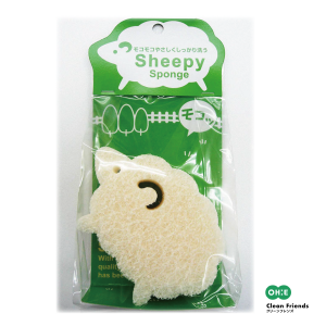 日本オーエ Clean Friends綿羊造型菜瓜布*日本製 1
